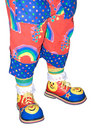 Circus Clown Shoes and Pants Isolated Detail Royalty Free Stock Photo
