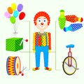 Circus clown vector illustration of Stock Photography