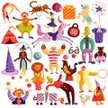 Circus Decorative Icons Set