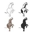 Circus elephant on back legs illustration Royalty Free Stock Photo