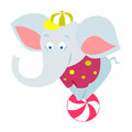 Circus elephant vector illustration of a Stock Photography