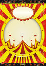 Circus entertainment poster a with a big top and a large empty circle frame Royalty Free Stock Photos