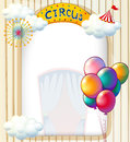 A circus entrance with balloons illustration of Royalty Free Stock Image