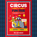 Circus Fun Fair Carnival Poster Red Royalty Free Stock Photo