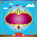 Circus fun leaflet Stock Photography