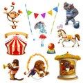 Circus, funny animals