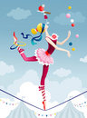 Circus girl Stock Images