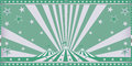 Circus green invitation with sunbeams Stock Photography