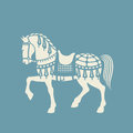 Circus horse vector or carousel graphic arts or papercutting template Stock Photo