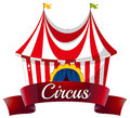 A circus label illustration of on white background Royalty Free Stock Photography