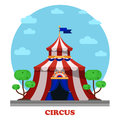 Circus marquee or tent front view Royalty Free Stock Photo