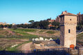 Circus Maximus Circo Massimo - ancient Roman chariot racing stadium and mass entertainment venue located in Rome. Royalty Free Stock Photo
