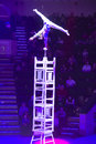Circus number acrobat performing a minsk belarus belorussian state ice show december th Royalty Free Stock Photos
