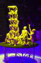 Circus number acrobats performing a minsk belarus belorussian state ice show december th Stock Image