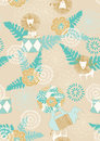 Circus pattern seamless with flowers lions and rhinos Royalty Free Stock Image