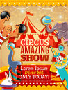 Circus performance announcement vintage poster Royalty Free Stock Photo