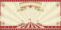Circus red invitation Royalty Free Stock Photo