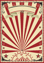 Circus red vintage Stock Image