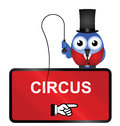Circus sign comical isolated on white background Stock Image