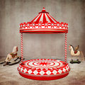Circus stage the beautiful background with or carousel for your art Stock Images