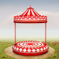 Circus stage the beautiful background with or carousel for your art Stock Photo