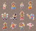 Circus stickers Stock Images