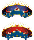 Circus tent banner Royalty Free Stock Photo