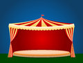 Circus Tent With Blank Podium ...