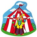 Circus tent with clown Royalty Free Stock Photography
