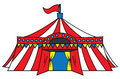 Circus tent happy funny cartoon Royalty Free Stock Photo
