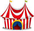 A circus tent illustration of on white background Royalty Free Stock Photography