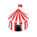 Circus tent isolated on white background single Royalty Free Stock Photography
