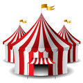 Circus tent red and white striped set Royalty Free Stock Photography