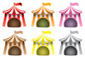 Circus Tent Vector Icon Set Royalty Free Stock Photo