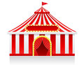 Circus tent vector illustration on background Royalty Free Stock Photos