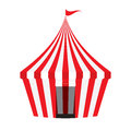 Circus tent on white background illustration Stock Photos
