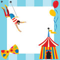 Circus themed party invitation Royalty Free Stock Photos