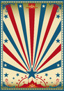 Circus vintage red blue poster Royalty Free Stock Photo