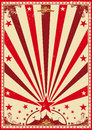 Circus vintage red poster Royalty Free Stock Photo