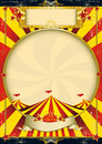 Circus vintage red and yellow poster Royalty Free Stock Photo