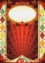 Circus vintage rhombus poster Royalty Free Stock Photo