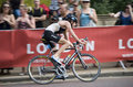 Cirkulerande london triathlon Royaltyfria Foton