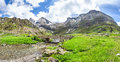 Cirque de Troumouse - the glacial cirque in Pyrenees Royalty Free Stock Photo
