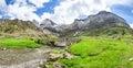 Cirque de Troumouse - the glacial cirque in Pyrenees Royalty Free Stock Photo