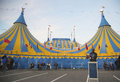 Cirque du soleil circus tent at citi field in new york april on april it is a canadian entertainment company a mix of Stock Photography