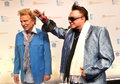 Cirque du soleil s annual one night for one drop las vegas march former magicians siegfried l and roy arrives at at the mandalay Royalty Free Stock Images