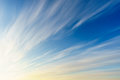 Cirrus clouds on blue sky Royalty Free Stock Photo