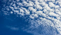 Cirrus clouds on sunny day blue sky background Royalty Free Stock Photography