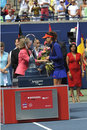 Cirstea finalist of rogers cup sorana is a august Stock Photography