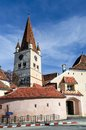 Cisnadie fortified church transylvania romania in with medieval tower architecture sibiu county Royalty Free Stock Image